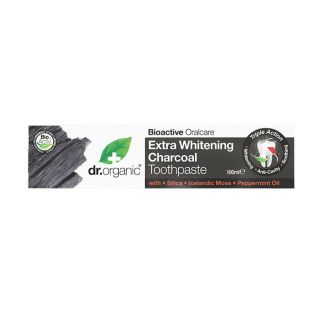 Dr Organic Extra Whitening Charcoal Toothpaste - 100ml